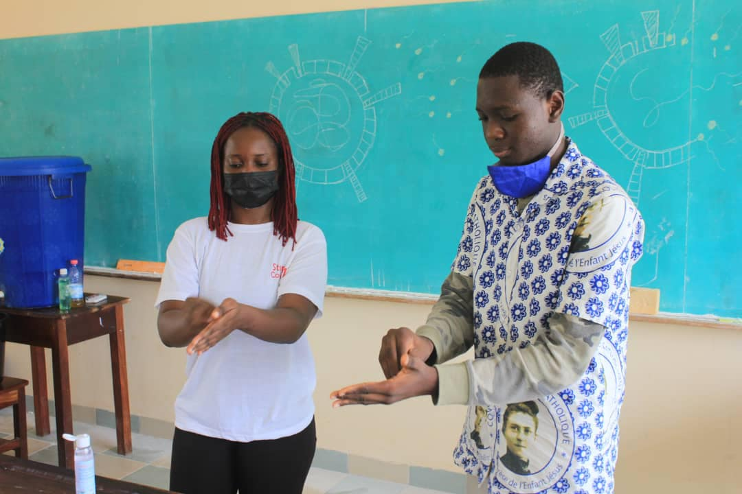 Students in Benin learn how to fight COVID-19