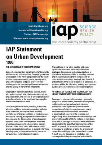 IAP Statement on Urban Development Cover