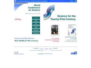 1999 World Conference on Science UNESCO/ICSU cover