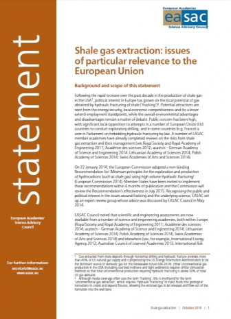 Shale Gas Statement