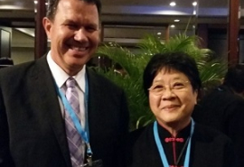 Anthony Capon (Director of UNU-International Institute for Global Health) and Lai-Meng Looi (IAMP Co-Chair)