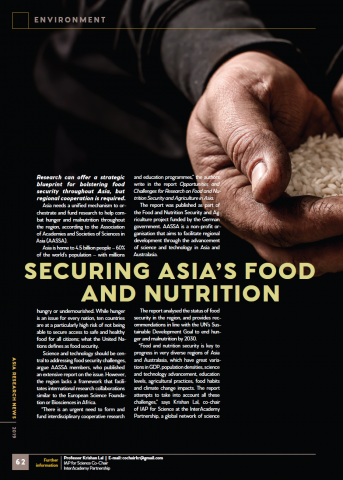 Securing Asia's food and nutrition cover