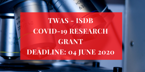 TWAS and IsDB launch COVID-19 research grant