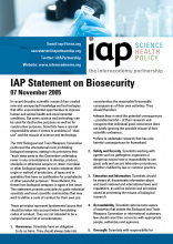 IAP Statement on Biosecurity Cover