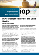 IAP Statement on Mother and Child Health Cover