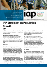 IAP Statement on Population Growth cover