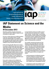 IAP Statement on Science and the Media Cover
