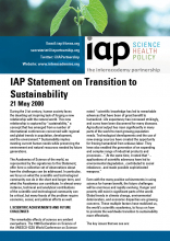 IAP Statement on Transition to Sustainability Cover