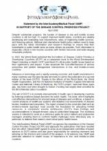 Statement on Launch of Disease Control Priorities Project Cover