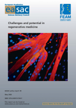 Cover of the report Challenges and potential in regenerative medicine