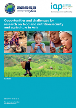 Opportunities and challenges for research on food and nutrition security and agriculture in Asia cover