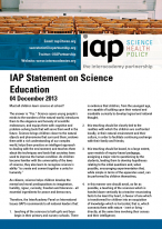 IAP Statement on Science Education Cover