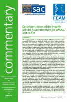 EASAC FEAM Statement Decarbonisation of Health Sector