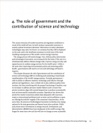 The role of government and the contribution of science and technology